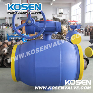 Worm Gear Full Welded Ball Valve for Gas