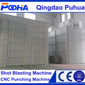 CE Approved Manual Sand Blasting Booth pictures & photos
