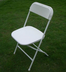 Wedding Plastic Folding Chair with Metal Frame pictures & photos