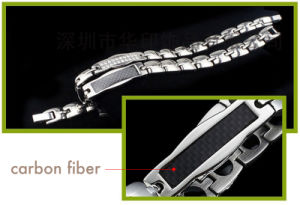 Health Care Carbon Fiber Titanium Energy Magnetic Bracelet pictures & photos