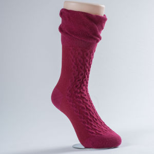 Pique Loose Ribtop Ladies Socks (RDW-003)