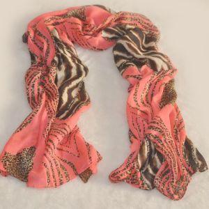 Fashion Cotton Voile Printed Spring Silk Scarf (WJ368)