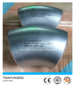 45 Degree Duplex 2205 Stainless Steel Elbow Pipe Fitting pictures & photos
