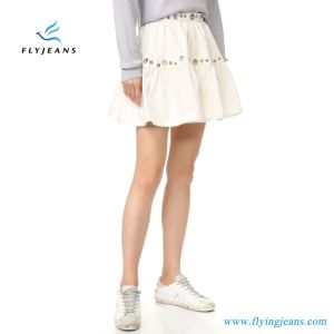 Fashion White Cotton Cute Ladies Bubble Skirts Women Miniskirts (e. p. 516) pictures & photos
