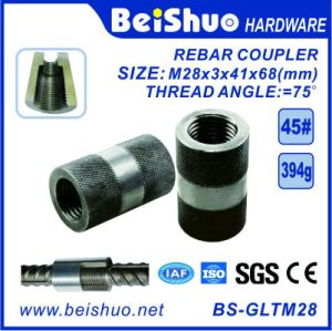 M28-L68mm Building Construction Rebar Coupler with Straight Screw Sleeve pictures & photos