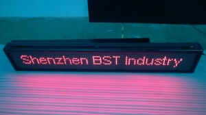 Programmable Semi-Outdoor Red Color Scrolling LED Message Sign (P10mm) pictures & photos