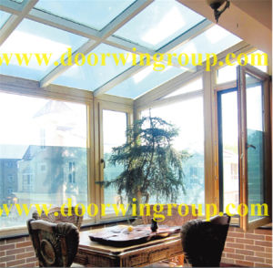 European and American Style Aluminium Wood Windows pictures & photos