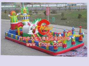 PVC Tarpaulin Material Inflatable Bounce for Playground pictures & photos