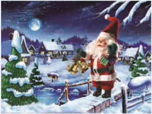 3D Lenticular Christmas Greeting Card pictures & photos