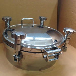 250mm SUS304 Manhole Cover with Stainless Steel Locking Knobs pictures & photos