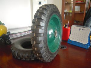 Factory Directly Sale 14 Inch Solid Rubber Wheel with High Quality pictures & photos
