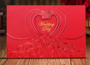 Brief Wedding Card Paper Card Top Quality Greeting Card Printing