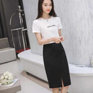 Women Winter Skirt Plus Size 3 Colors Woolen Package Hip Skirts Elasticity Skirt for Women pictures & photos