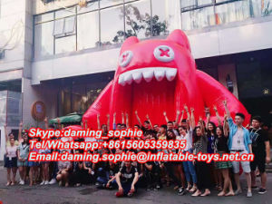 Inflatable Devil Cat Cartoon for Outdoors Events Promotion