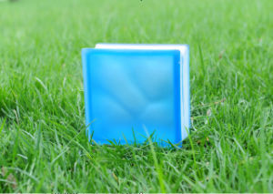 Beautiful Acid Blue Cloudy Glass Brick/Block pictures & photos