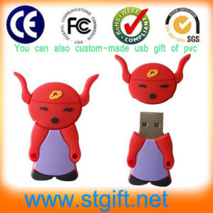 Custom Made Logo USB Flash Drive and Logo Embossed in Mold