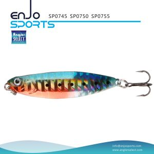Sp07 Series Holographic Spoon Shape Jigging Lure with Vmc Treble Hook pictures & photos