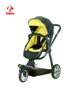 Three Round Baby Carriage En1888 Certification Yellow Models pictures & photos