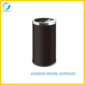 Black Powder Coating Ashtray Bin for Hotel Lobby pictures & photos
