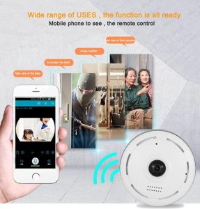 Smart Home Email Alarm 2MP P2p 360 Degree Vr Fisheye CCTV Wireless IP Camera pictures & photos