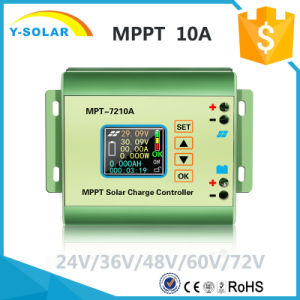 MPPT/DC-DC Auto 10A-MPPT 24V/36V/48V/60V/72V Li-Battery Solar Controller Mpt-7210A pictures & photos