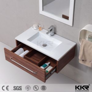 Modern Solid Surface Resin Stone Washbasin Bathroom Vanity pictures & photos
