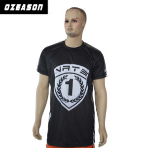Wholesale 100% Polyester Custom Sublimation Black T Shirts pictures & photos