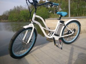 Girls Beach Cruiser Green Power Electric Charging Bike for Sale pictures & photos