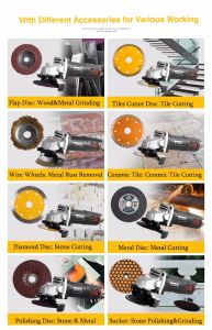 Easy Operating Power Tools 115mm Angle Grinder pictures & photos