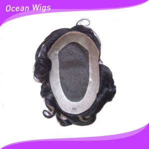 Top Quality Wholesale Price of Men′s Toupees with Mono Lace (TP-033) pictures & photos