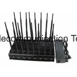 16 Antenna Mobile Phone GPS WiFi Jammer UHF VHF Lojack Jammer, Adjustable High Power Cell Phone Jammer & WiFi Jammer up to 50 Meters Range pictures & photos