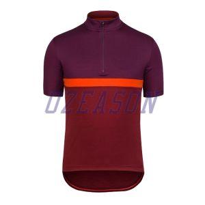 Custom Black Design Full Zip Digital Printing Cycling Jersey pictures & photos