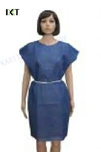 SMS Blue Patient Gown with Short Sleeves pictures & photos