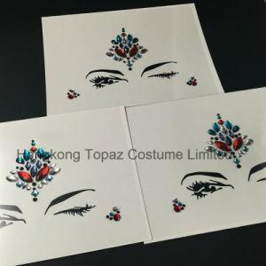 2017 New Eyebrow Rhinestone Sticker Head Crystal Rhinestone Sticker Eyeliner Tattoo Acrylic Sticker (S053) pictures & photos