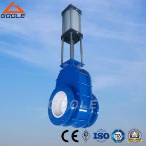 Pneumatic Parallel Sliding/ Double Discs Wear-Resistance Ceramic Gate Valve (GAZ644TC) pictures & photos