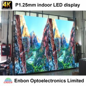 High End 4K UHD 1.25mm Fine Pixel Pitch Indoor LED Video Wall Display pictures & photos
