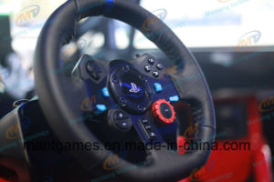 Newest 3 Screens 6dof Coin Operated Arcade Motion Racing Car pictures & photos