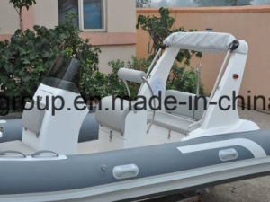 Liya 17feet 70HP Water Taxi for Sale Fiberglass Speed Boat 5.2m Rubber Boat pictures & photos