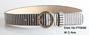 2018 Fashion Belts for Lady with Round Buckle and Strip pictures & photos