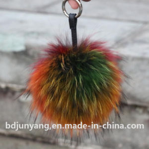Raccoon Fur POM POM Fur Ball Keychain pictures & photos