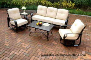 Swivel&Glide Garden Chat Group Set Aluminum Furniture pictures & photos