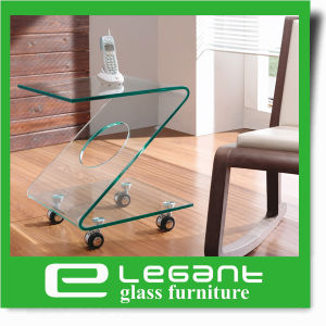 Small Bent Glass Side Table Sets in Many Colors pictures & photos