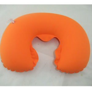 Flocked PVC Inflatable Roller Pillow for Noon Break pictures & photos