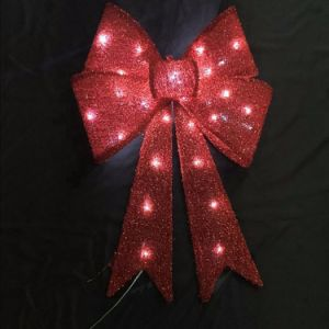 Christmas Tree Garment Accessories LED Light Decoration Bow pictures & photos