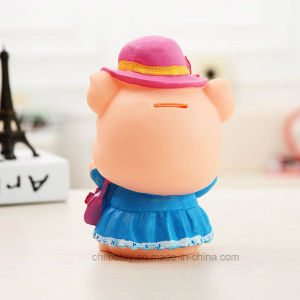 Promotional Plastic Coin Money Saving Box Pig Toy for Kids pictures & photos