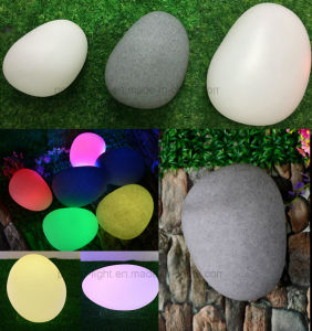 Garden Decorative Cordless Color Changing LED Stone Light pictures & photos