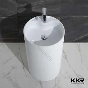 Modern Design Bathroom Sink Stone Pedestal Wash Basin pictures & photos