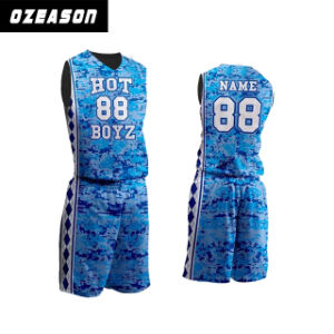 Cheap Mesh Dry Fit Men Reversible Basketball Jerseys pictures & photos