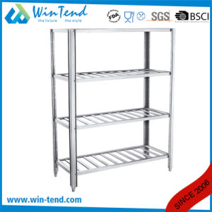 4 Tier Stainless Steel Multi Purpose Adjustable Storage Rack with Height Adjustable Leg pictures & photos