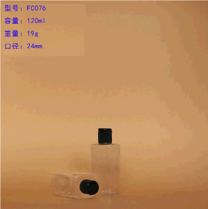 150ml Cosmetic Pet Plastic Bottle with Black Screw Cap pictures & photos